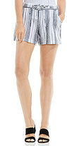 Vince Camuto Two by Stripe Linen Drawstring Shorts
