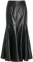 Gabriela Hearst Amy leather midi skirt