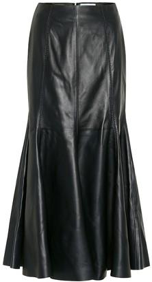 Gabriela Hearst Amy leather midi skirt