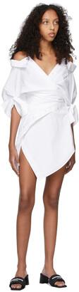Alexander Wang White Deconstructed Shirt Dress