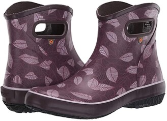 Bogs Patch Ankle Boot New Leaf (Raisin) Women's Shoes