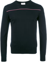 Moncler tri-colour stripe knitted jumper - men - Cotton - M