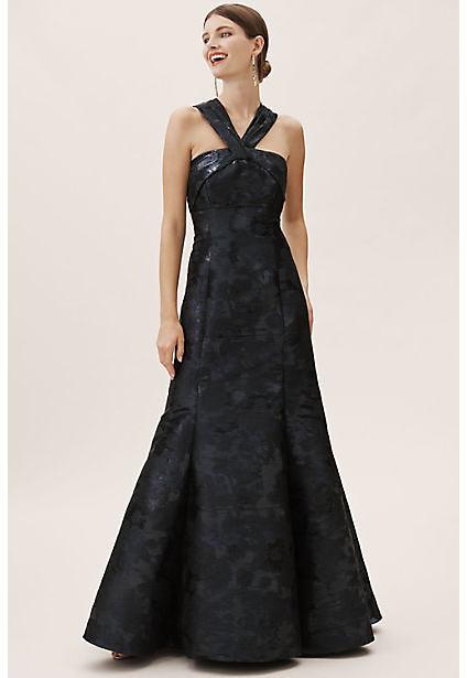 Aidan Mattox Brook Dress By in Blue Size 2