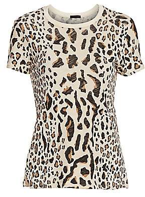 ATM Anthony Thomas Melillo Women's Mixed Leopard Print T-Shirt
