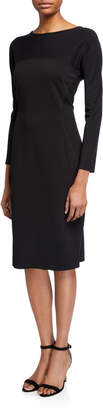 Donna Karan 3/4 Sleeve Midi Sheath Dress