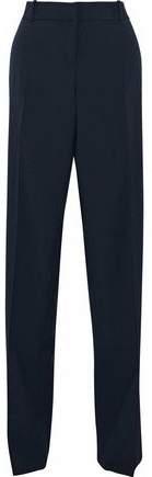 Giorgio Armani Wool-Blend Faille Striaght-Leg Pants