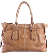 Tod's Leather Drawstring Tote