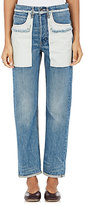 Helmut Lang Women's Cotton Inside-Out-Pocket Jeans-LIGHT BLUE
