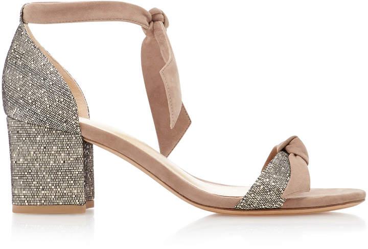 Alexandre Birman Clarita Suede-Trimmed Woven Sandals