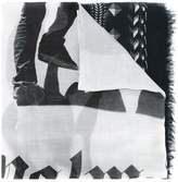 Palm Angels geometric print scarf