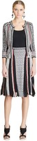 Oscar de la Renta Knit and Pleated Chiffon A-Line Skirt