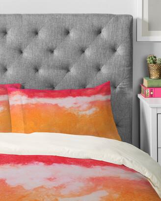 Deny Designs Laura Trevey Tangerine Tie Dye Duvet Set