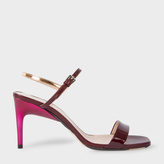 Paul Smith Women's Bordeaux Leather 'Nyla' Heeled Sandals