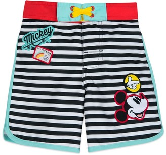 Disney Mickey Mouse Striped Swim Trunks for Boys
