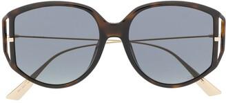Christian Dior DiorDirection2 oversized-frame sunglasses