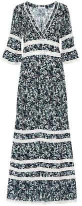 Poupette St Barth Capri floral maxi dress