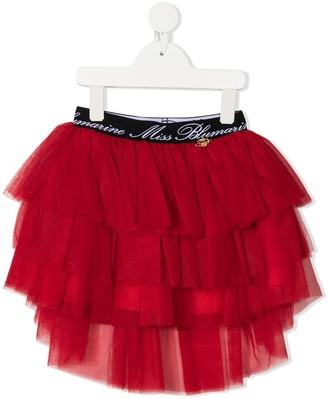 Miss Blumarine Tiered Tulle Ruffle Skirt