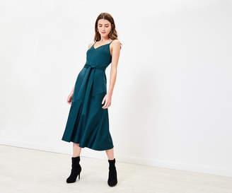 Oasis Satin Midi Dress
