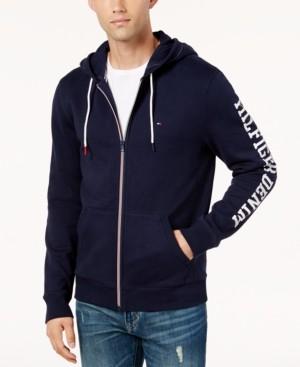 Tommy Hilfiger Men's Dash Logo-Print Full-Zip Hoodie