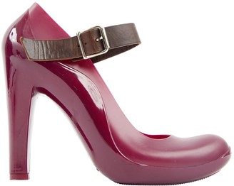 Marni \N Burgundy Rubber Heels