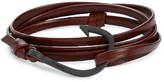 Miansai 'Noir' Hook Leather Bracelet