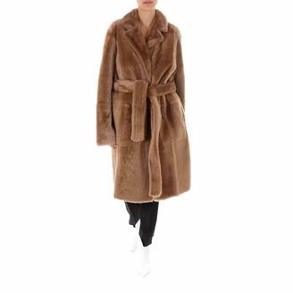 Yves Salomon Reversible Belted Clutch Coat