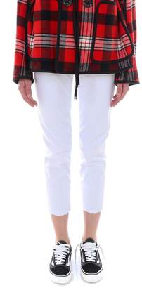 DSQUARED2 High Waist Cropped Twiggy Jean Pants