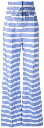 Ermanno Scervino high-rise striped trousers