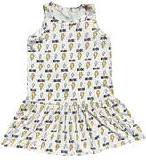 Rowdy Sprout Rock Graphic Printed Tank Dress - White, Size 3-6 month