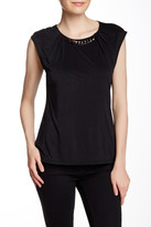 Laundry by Shelli Segal Pleated Chained Neck Blouse