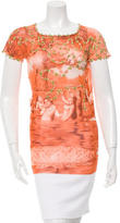 Jean Paul Gaultier Tulle Printed Top