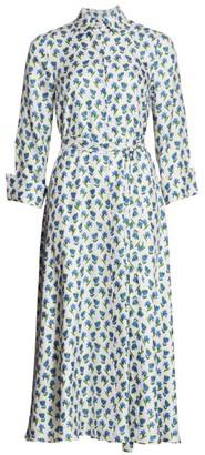 Carolina Herrera Printed Belted Silk Shirtdress