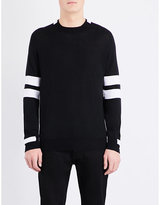 Givenchy Stripe-detail Knitted Wool Jumper