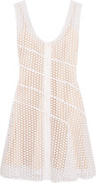 Sonia Rykiel Cotton-mesh mini dress