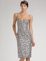 Silk Print Bustier Dress