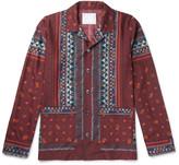 Sacai - Camp-collar Printed Voile Shirt