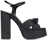 Saint Laurent woven platform sandals