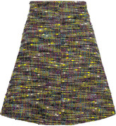 Just Cavalli Cotton-blend tweed mini skirt