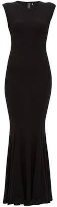 Norma Kamali Fishtail Jersey Maxi Dress - Black