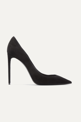 Saint Laurent Zoe Suede Pumps - Black