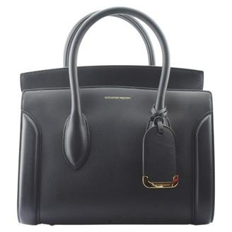Alexander McQueen Heroine Chain Black Leather Handbags