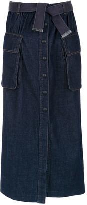 Andrea Bogosian Long Denim Skirt