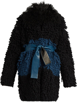 Fendi Fur-collar loop-knit cardigan