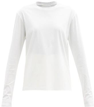 Jil Sander Long-sleeved Cotton-jersey T-shirt - White