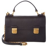 Miu Miu Madras Leather Shoulder Bag.