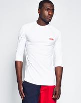 10.Deep Breezy 3/4 Mesh Sleeve T-Shirt White