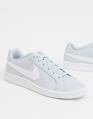 Nike court royale trainers in aura & white