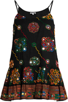 Juliet Dunn Embroidered cotton cami dress