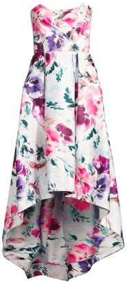 Parker Black Paulina Strapless Floral Dress