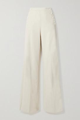 Max Mara Serio Cotton-blend Corduroy Wide-leg Pants - Ivory